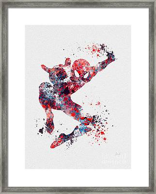 Spidey Framed Print by Rebecca Jenkins