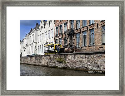 Spieglerei Canal In Bruges Belgium Framed Print by Louise Heusinkveld