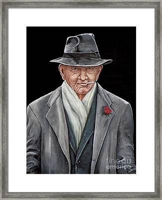 Spiffy Old Man Framed Print by Judy Kirouac