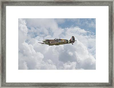 Framed Print featuring the digital art   Spifire - Us Eagle Squadron by Pat Speirs