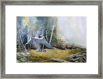 Spike Camp Framed Print by Lynne Parker