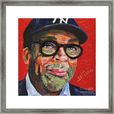 Spike Lee Portrait Framed Print by Robert Yaeger