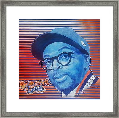 Spike Lee Framed Print by Reuben Cheatem