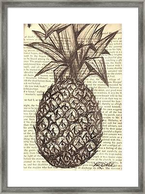 Spiked Fruit Framed Print