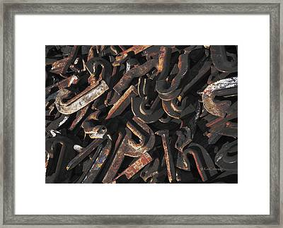 Spikes And Anchors In Color Framed Print