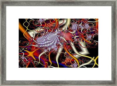 Spiky Tendrils Framed Print by Ron Bissett