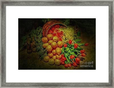 Spilled Barrel Bouquet Framed Print by Sandy Moulder