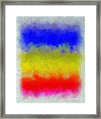 Framed Print featuring the digital art Spilled Paint 1 by Darla Wood