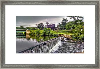 Spillway At Grace Lord Park, Boonton Nj Framed Print