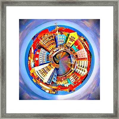 Framed Print featuring the photograph Spin City by Kathy Kelly