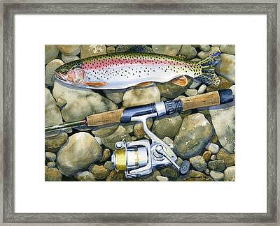 Spin Trout Framed Print