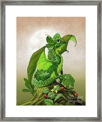 Spinach Dragon Framed Print