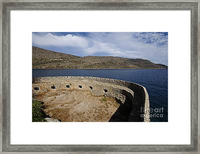 Spinalonga Framed Print