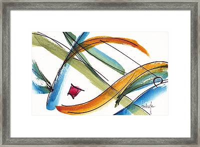 Spindle Back Abstract #2 Framed Print