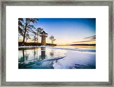 Framed Print featuring the photograph Spindle Point Sunrise by Robert Clifford