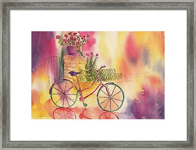 Spindly Spokes Framed Print