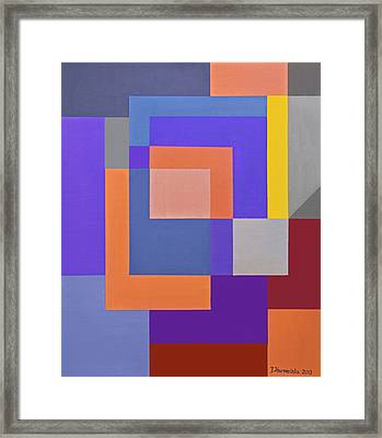 Spring 3 Abstract Composition Framed Print