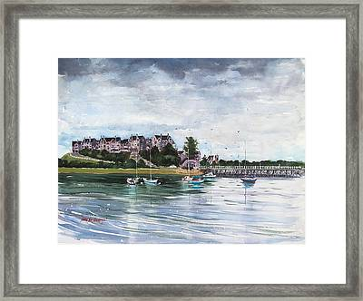 Spinnaker Island Framed Print by Laura Lee Zanghetti