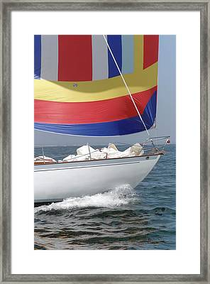 Spinnaker Run Framed Print