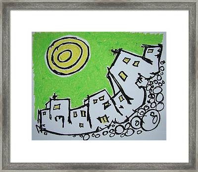 Spinning City Framed Print by Pat  Lackenbauer