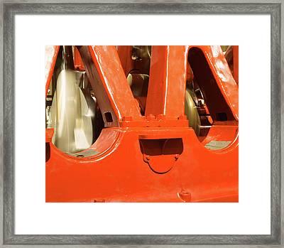 Spinning Crankshaft Framed Print by Pat Turner