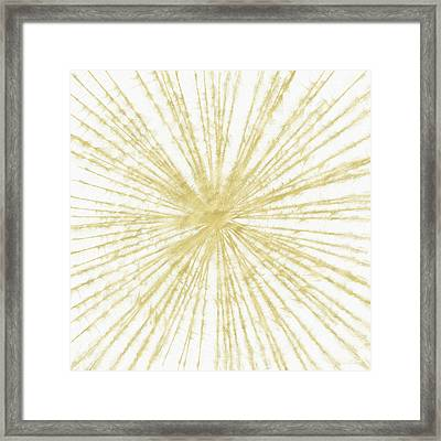 Spinning Gold- Art By Linda Woods Framed Print