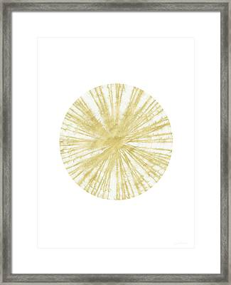 Spinning Gold Ball Art By Linda Woods Framed Print by Linda Woods