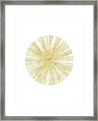 Spinning Gold Ball Art By Linda Woods Framed Print