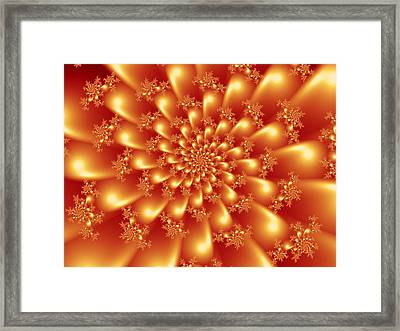 Spinning Gold Framed Print