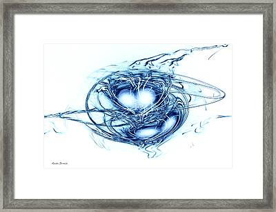 Spinning Into Place Framed Print by Linda Sannuti