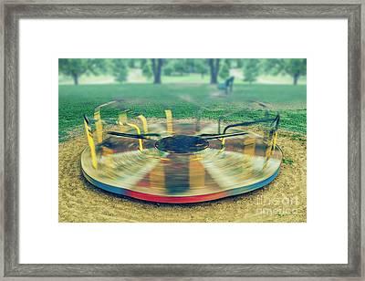 Spinning  Framed Print
