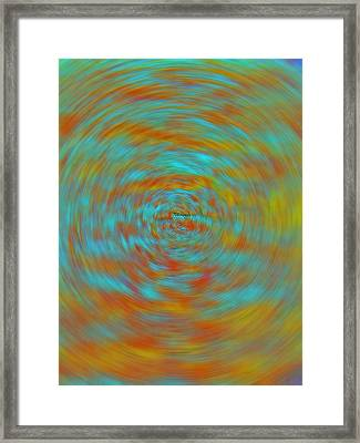 Framed Print featuring the photograph Spinning Out Of Control by Lenore Senior