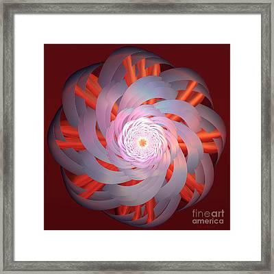 Spinning Pinwheel Framed Print by Deborah Benoit