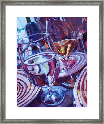 Spinning Plates Framed Print by Penelope Moore