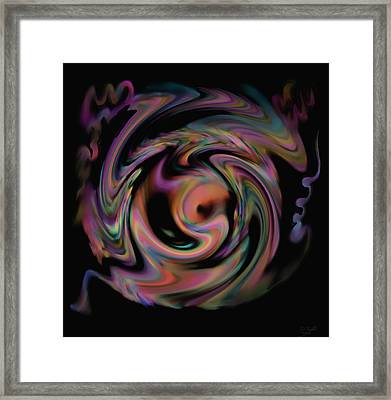 Framed Print featuring the painting Spinning Softly by Kevin Caudill