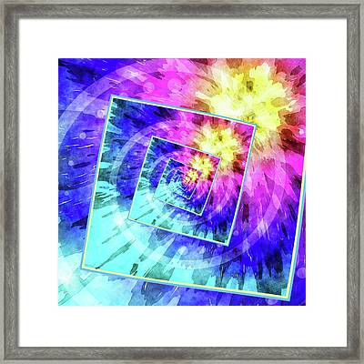 Spinning Tie Dye Abstract  Framed Print