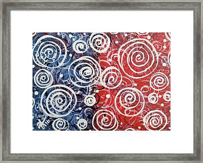 Spinning Tops Framed Print by Jackie Carpenter