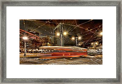 Framed Print featuring the photograph Spinning Trolley Car by Steve Siri