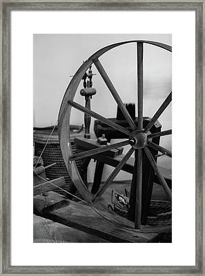 Spinning Wheel At Mount Vernon Framed Print