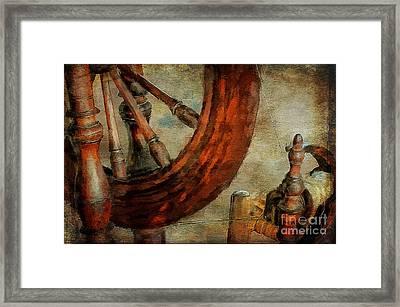 Spinning Wheel Framed Print by Lois Bryan