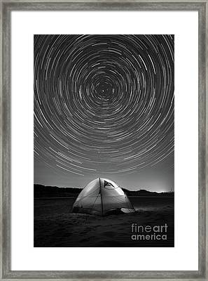 Spinning While We Sleep Bw Framed Print by Michael Ver Sprill