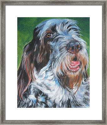 Spinone Italiano Portrait Framed Print