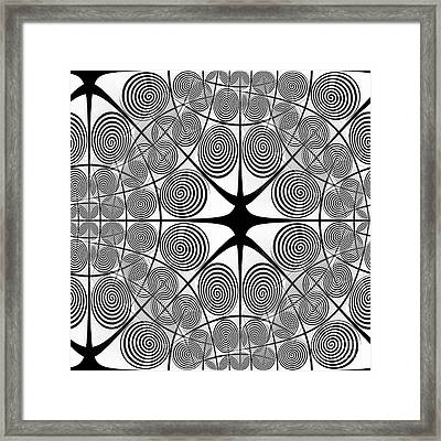 Spiral Abstract 7 Colour Choice Framed Print
