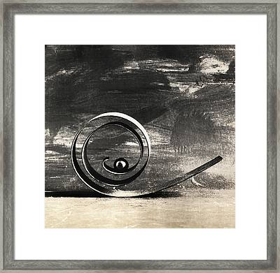 Spiral And Ball Framed Print by Andrey  Godyaykin