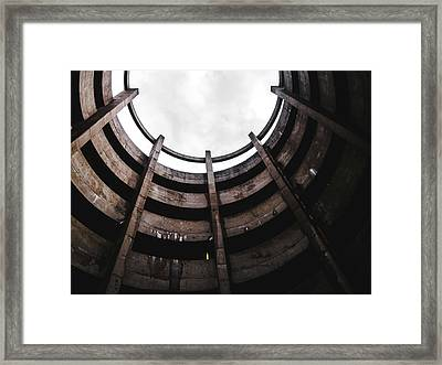 Spiral Architecture Photograph. Looking Up. Framed Print by Dylan Murphy
