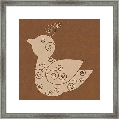 Spiral Bird Framed Print