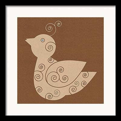 Brown Toned Drawings Framed Prints