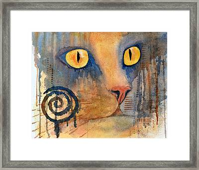 Spiral Cat Series - Returned Framed Print by Moon Stumpp