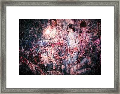 Spiral Circuitry Framed Print by Leigh Odom