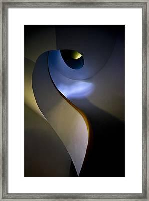 Spiral Concrete Modern Staircase Framed Print